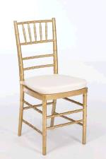 Rental store for Gold Chivari Chair - Wood in East Bay CA