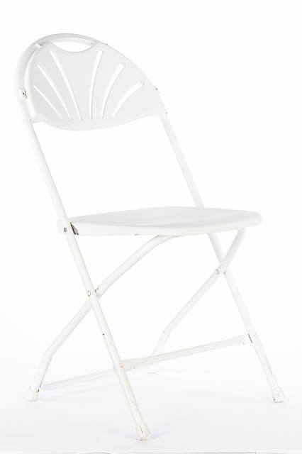 Where to find WHITE CHAIR W  FAN BACK in East Bay