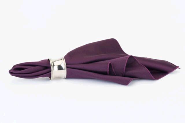 Where to find AUBERGINE SATIN DINNER NAPKINS in East Bay