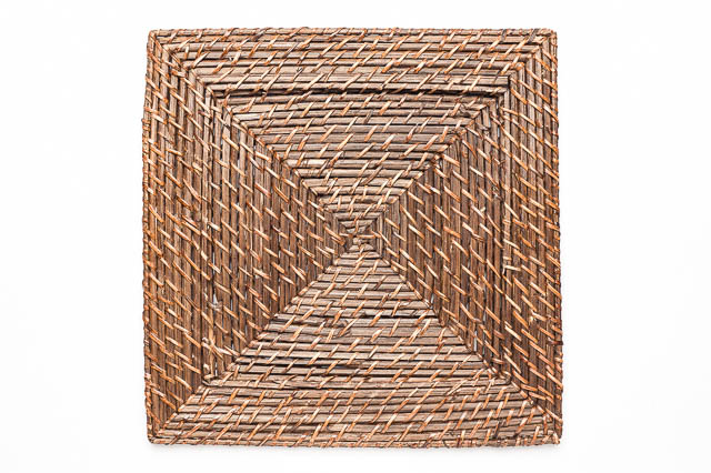 Where to find SQUARE BROWN RATTAN CHARGER in East Bay