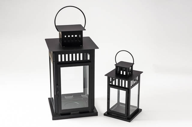 Where to find 11  BLACK METAL LANTERN in East Bay