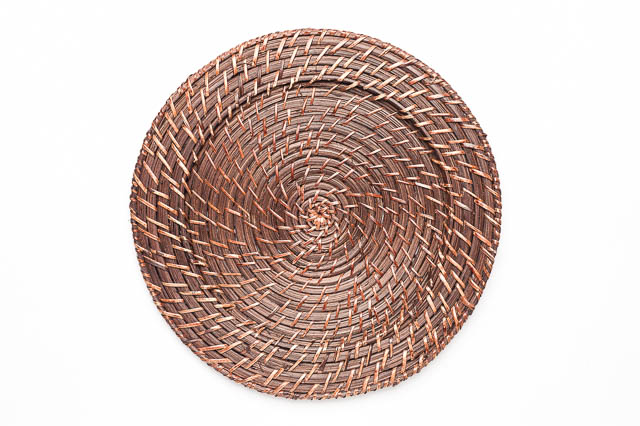 Where to find ROUND BROWN RATTAN CHARGER in East Bay