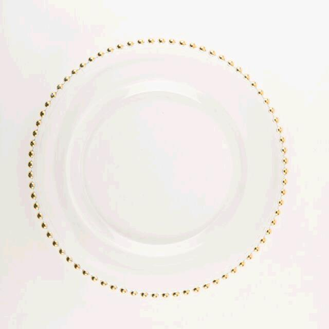 Where to find ROUND JC GOLD BEAD GLASS CHARGER in East Bay