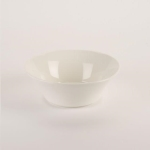 Rental store for 7.75   White Ceramic Flared Bowl in East Bay CA