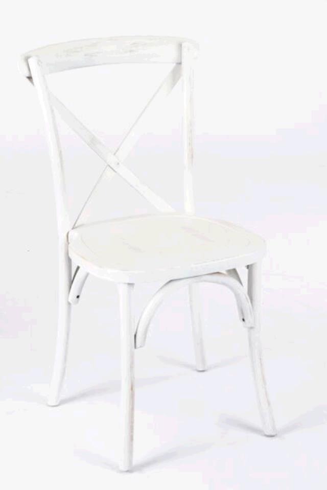 Where to find WHITEWASH CROSS BACK FARM CHAIR in East Bay