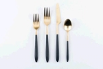 Rental store for Gold black Nola Flatware in East Bay CA