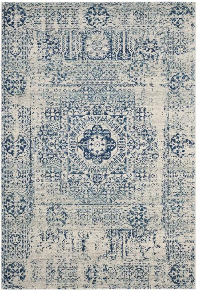 Where to find 6.5  x 9  HUMA IVORY BLUE RUG in East Bay