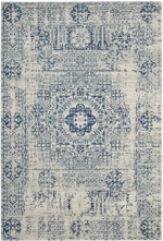 Rental store for 6.5  X 9  Huma Ivory blue Rug in East Bay CA