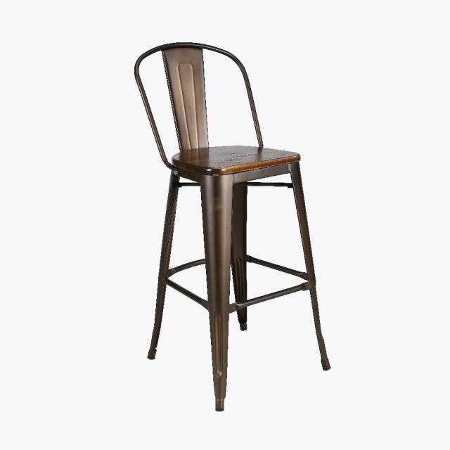 Where to find JUNCTION METAL BAR STOOL W WOOD SEAT in East Bay