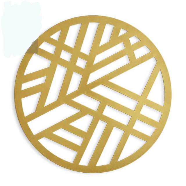 Where to find ROUND GOLD GEOMOD CHARGER MAT in East Bay