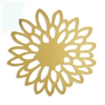 Rental store for Round Gold Zinnia Charger Mat in East Bay CA