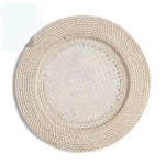Rental store for Round Whitewash Rattan Charger in East Bay CA