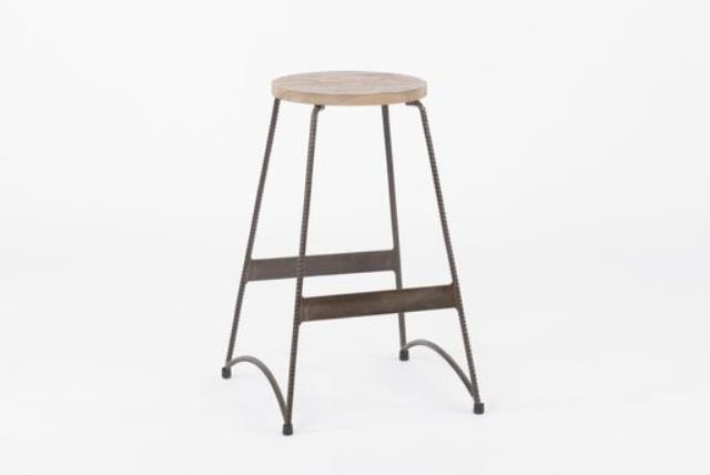 Where to find EDISON METAL BAR STOOL W WOOD SEAT in East Bay