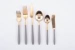 Rental store for Grey gold Nola Flatware in East Bay CA