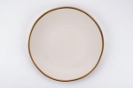 Rental store for Gold Rim Linen Matte Dinner Plate in East Bay CA